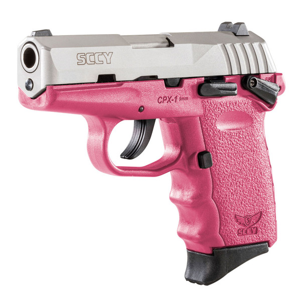 SCCY CPX-1 9mm 3.1in 10rd Stainless Steel/Crimson Semi-Automatic Pistol (CPX-1-TTCR)
