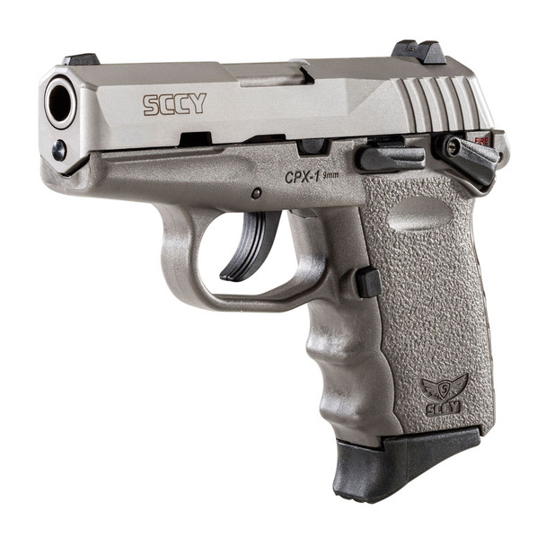 SCCY CPX-1 9mm 3.1in 10rd Stainless/Sniper Gray Semi-Automatic Pistol (CPX1-TTSG)