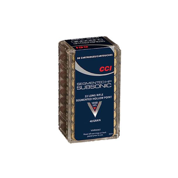 CCI Speer Quik Shok Sub-Sonic 22 LR 40 Grain Hollow Point Ammo, 50 Round Box (74)
