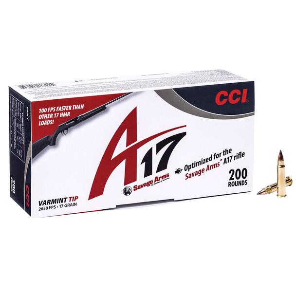 CCI/Speer A17 17HMR 17Gr Varmint Tip Ammo (949CC)