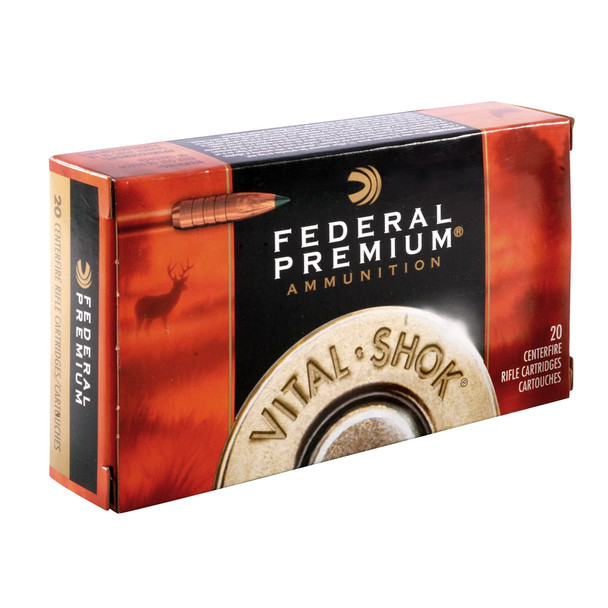 FEDERAL Vital-Shok 30-06 Sprg. 180 Grain Trophy Copper Ammo, 20 Round Box (P3006TC1)