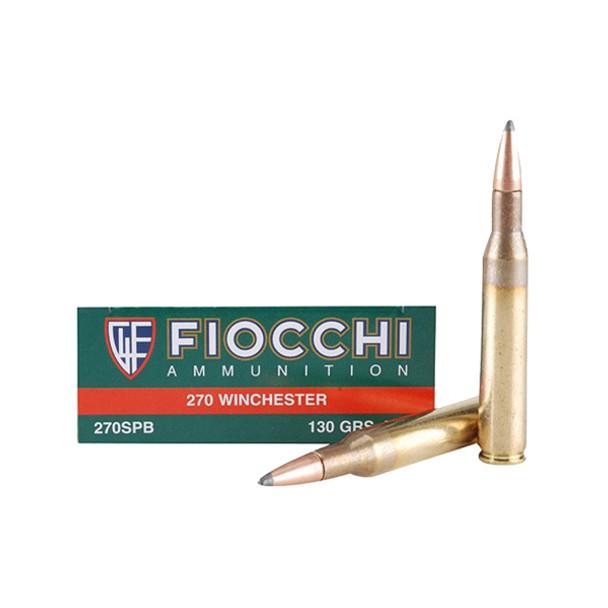 FIOCCHI 270 Win. 130 Grain TIP TSX BT Ammo, 20 Round Box (270TTSX)