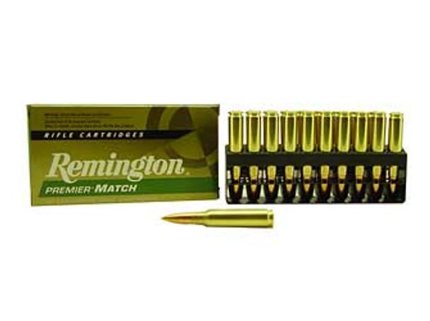 REMINGTON Premier Match 308 Win. 168 Grain BTHP Ammo, 20 Round Box (RM308W7)