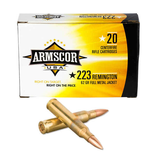 ARMSCOR 223 Rem 62 Grain FMJ 20rd Box Rifle Ammo (FAC223-8N)
