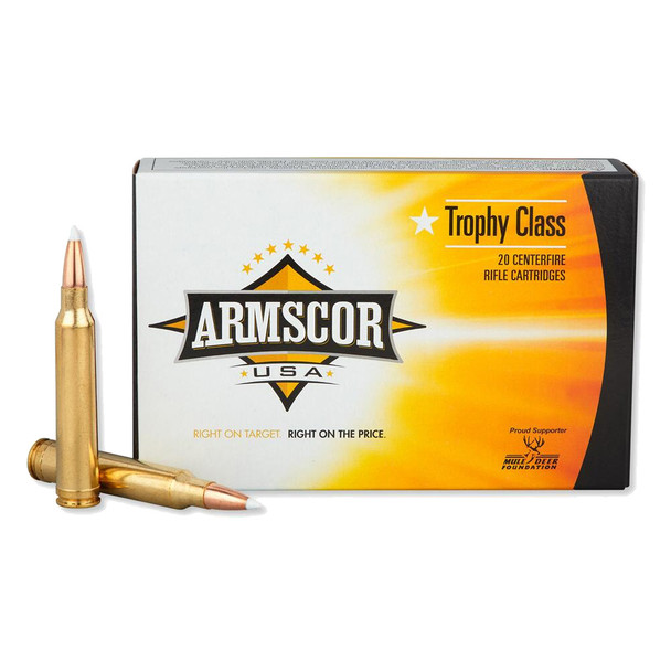 ARMSCOR 300 Win Mag 180 Grain AB 20rd Box Hunting Ammo (FAC300WM180GRAB-TC)