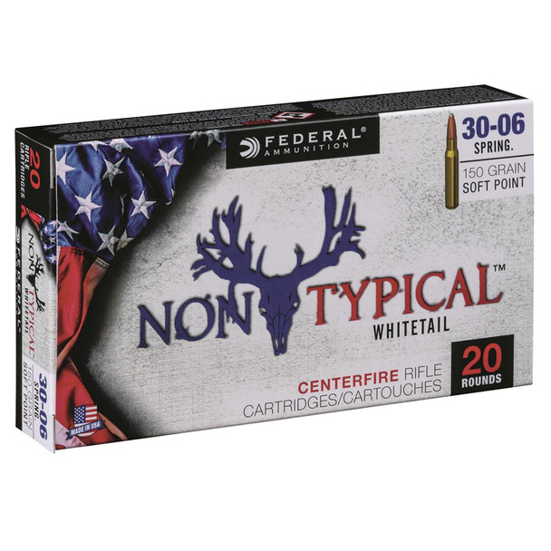 FEDERAL Non Typical 30-06 Springfield 150Gr Soft Point Rifle Ammo 3006DT150