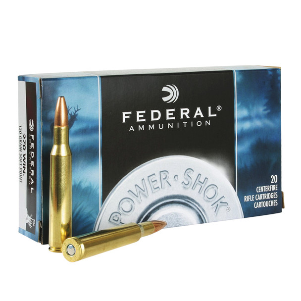 FEDERAL Power-Shok 30-30 Win. 150 Grain Soft Point Flat Nose Ammo, 20 Round Box (3030A)