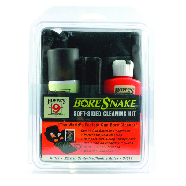 BoreSnake Field Cleaning Kit .22 Cal Rifle Clam Pack (34011)
