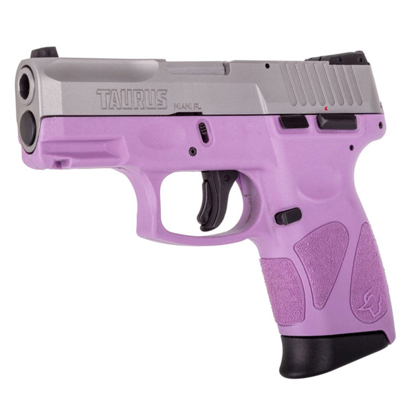 TAURUS G2c 9mm 3.2in 2x 12rd Light Purple Stainless Pistol (1-G2C939-12LP)