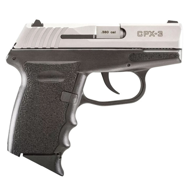 SCCY CPX-3 380 ACP 2.96in 10rd Black/Natural Stainless Slide Pistol (CPX-3-TT)