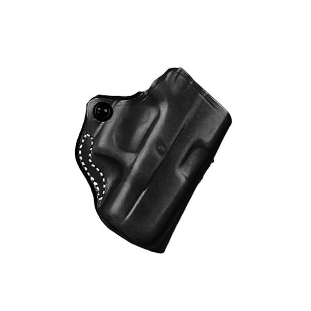 DESANTIS GUNHIDE 019 Mini Scabbard RH Black Leather Belt Holster (019BAE8Z0)