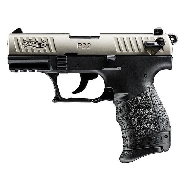 WALTHER P22QD .22LR 3.4in 10rd Nickel Semi-Automatic Pistol (5120325)