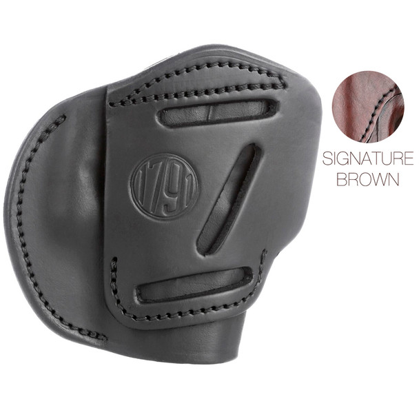 1791 GUNLEATHER 4WH 4 Way Signature Brown RH size 1 Holster (4WH-1-SBR-R)