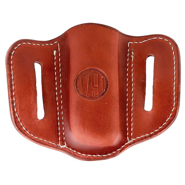 1791 GUNLEATHER MAG 1.1 Single Mag Single Stack Classic Brown Holster (MAG-1.1-CBR-A)