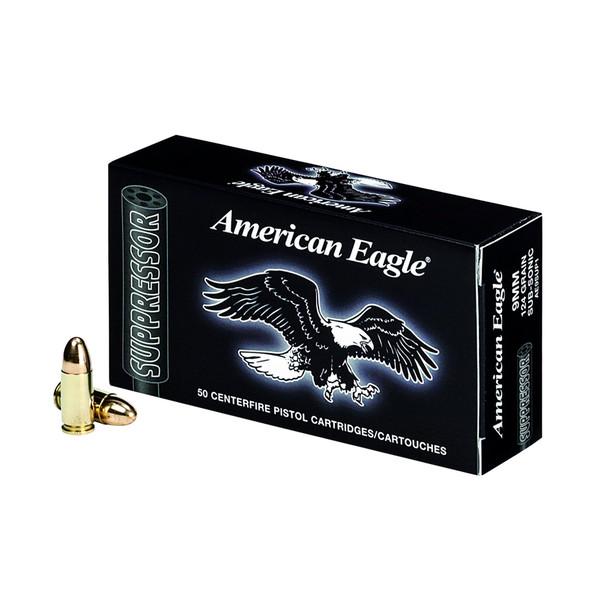 FEDERAL American Eagle Suppressor 45 ACP 230 Grain FMJ Ammo, 50 Round Box (AE45SUP1)