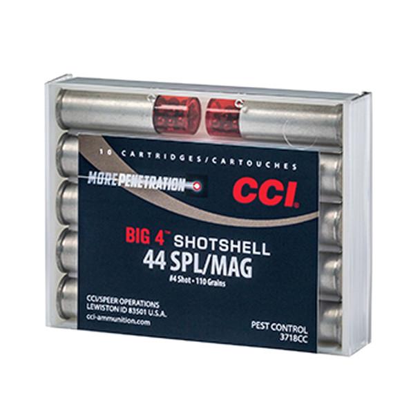CCI/Speer Big 4 44 Special/44 Mag 110Gr #4 Shot Size 10Rd Centerfire Pistol Shotshell Ammo (3718CC)