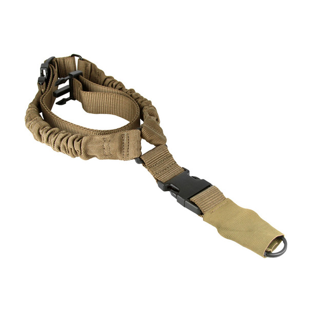 AIM SPORTS One Point Tactical Bungee Tan Sling (AOPS01T)