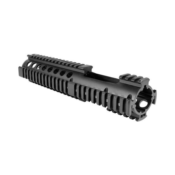 AIMSPORT AR Carbine Length 2-Piece Quad Rail with Extended Rail (MT057)