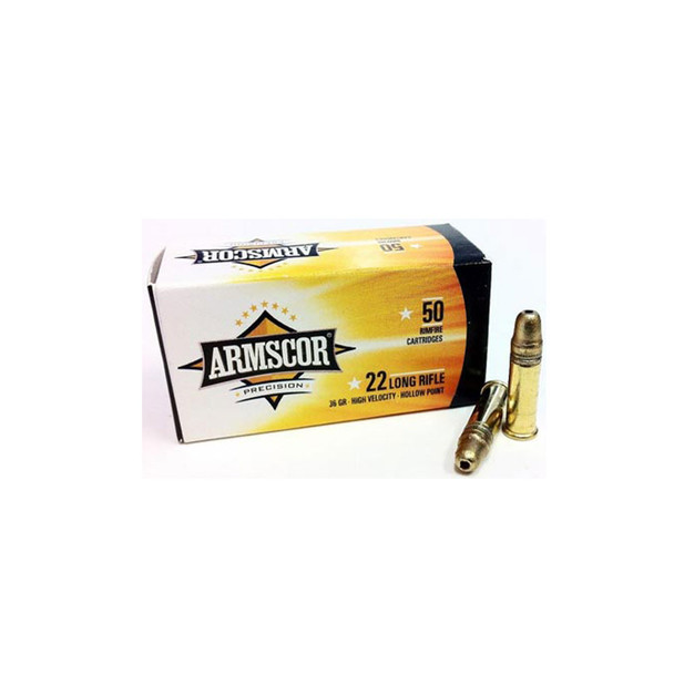 ARMSCOR .22LR 36Gr HP 50rd Box Rimfire Ammo (50015PH)