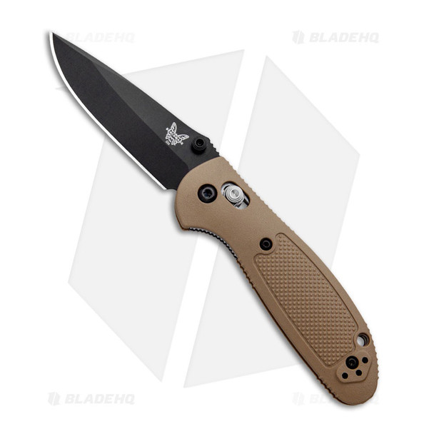 BENCHMADE Griptilian 2.91in Sand Drop-Point Knife (556BKSN-S30V)