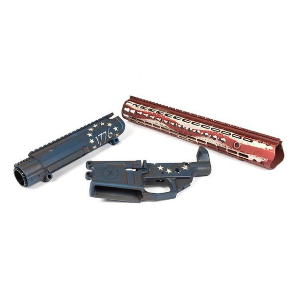 AERO PRECISION M5E1 1776 Red White & Blue Builder Set with 15in KeyMod Handguard (APCS308007)