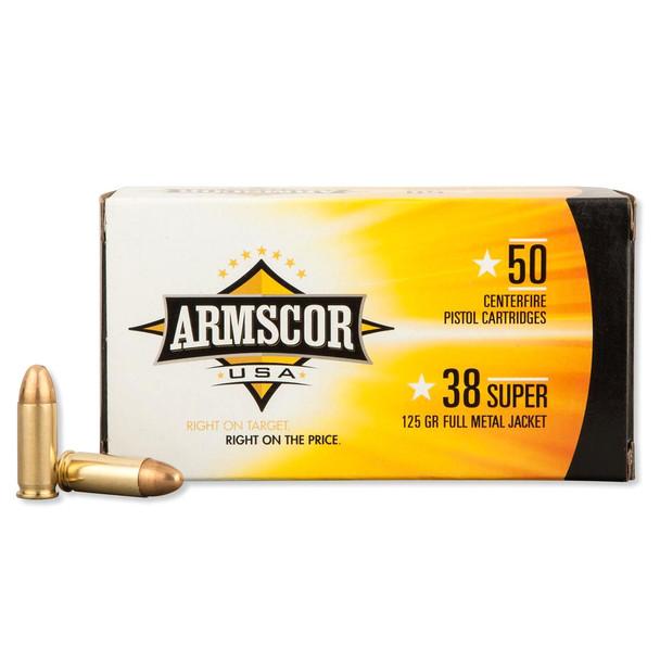 ARMSCOR 38 Super 125Gr FMJ 50Rd Box Ammo (FAC38SUPER-1N)