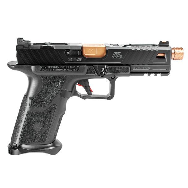 ZEV TECH OZ-9 Standard Black Slide Bronze Threaded Barrel Pistol (OZ9-STD-B-BRZ-TH)