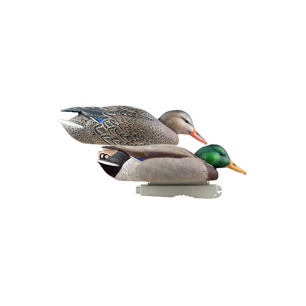 AVERY Pair of Pro-Grade Mallard Surface Feeder Decoys (73102)
