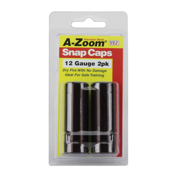 A-ZOOM Precision Metal 2-Pack of 12 Ga Snap Caps (12211)