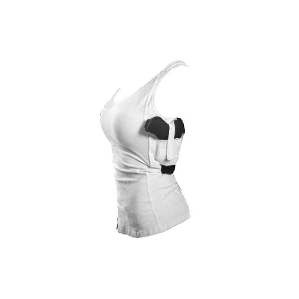 TAGUA GUN LEATHER Woman's White Tank Top (WOTAN-002)