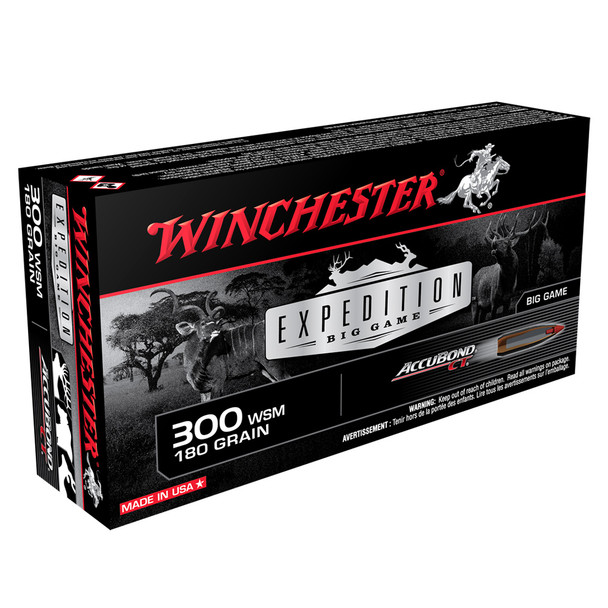 WINCHESTER Expedition Big Game 300 WSM 180Gr Polymer Tip 20/200 Rifle Ammo (S300WSMCT)