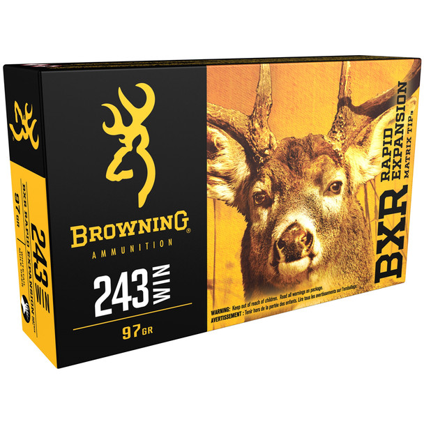 BROWNING BXR Deer 243 Win 97 gr Rifle Ammo (B192102431)