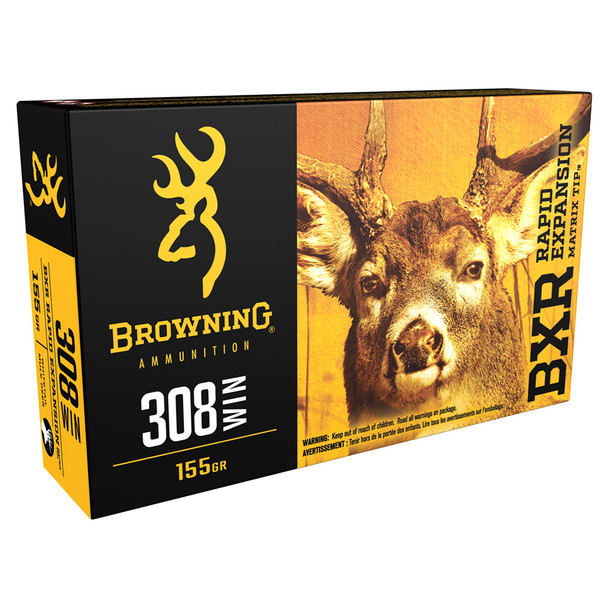 BROWNING BXR Deer 308 Win 155 gr Rifle Ammo (B192103081)