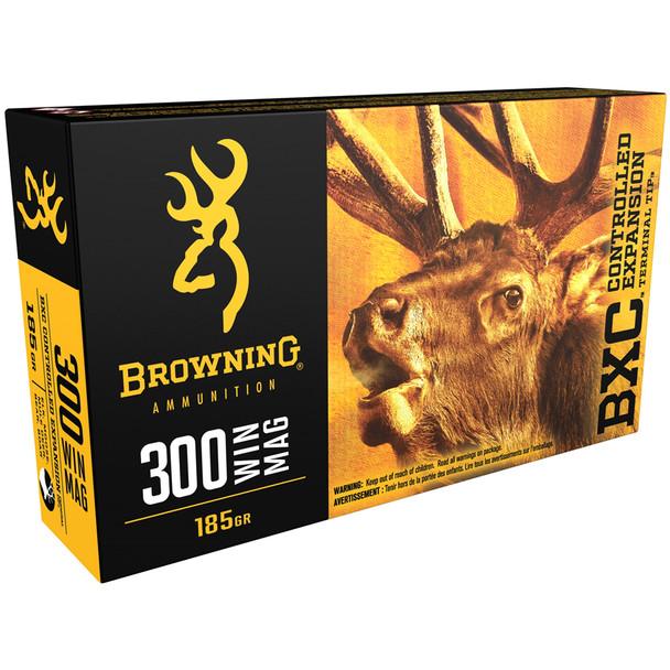 BROWNING BXC Big Game 300 Win Mag 185 gr Rifle Ammo (B192203001)