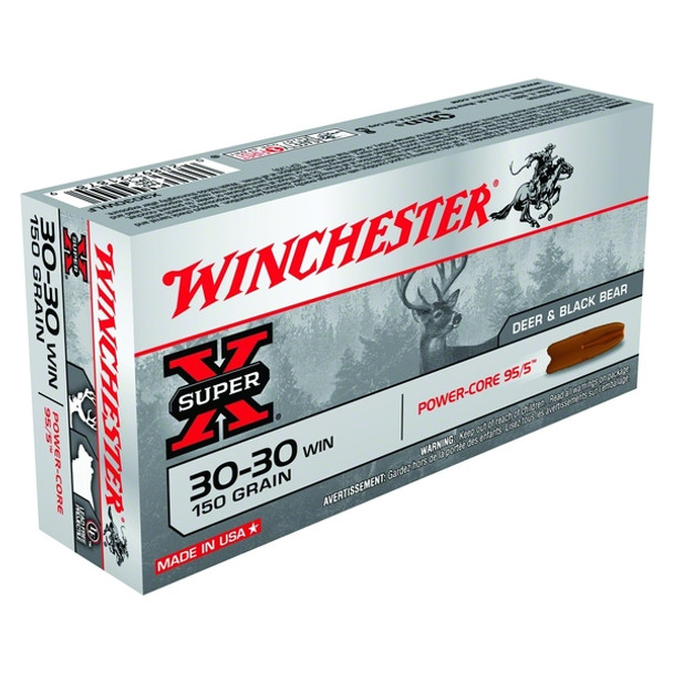 WINCHESTER Super-X Power Core 95/5 Copper Alloy 30-30 150Gr Hollow Point 20rd Box Rifle Bullets (X3030LF)