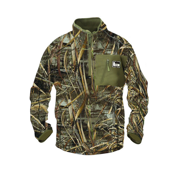 BANDED Mid Layer 1/4 Zip Bottomland Pullover (450-PAR)