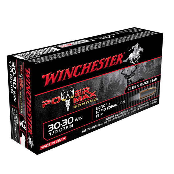 WINCHESTER Power Max Bonded .30-30 Win 170Gr HP 20rd Box Rifle Ammo (X30303BP)