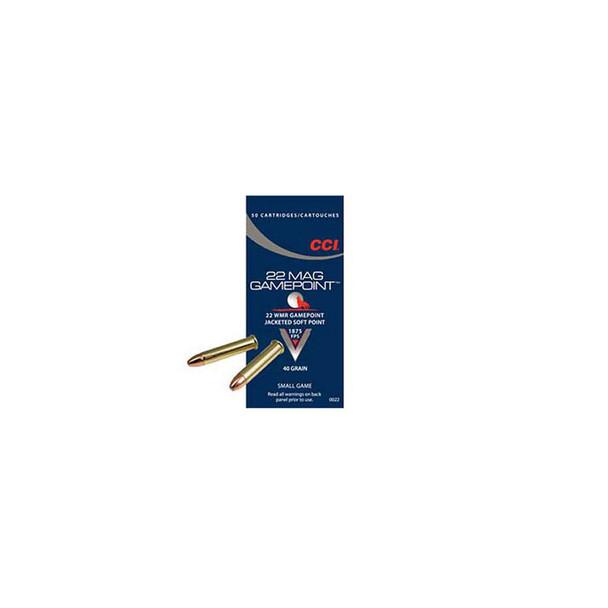 CCI Speer Gamepoint 22 WMR 40 Grain Jacketed Soft Point Ammo, 50 Round Box (22)