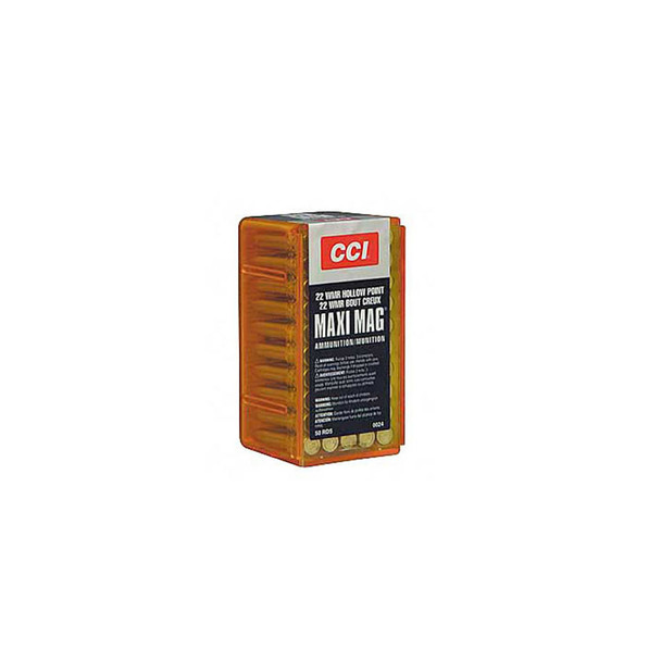 CCI Speer Maxi-Mag 22 WMR 40 Grain Jacketed Hollow Point Ammo, 50 Round Box (24)