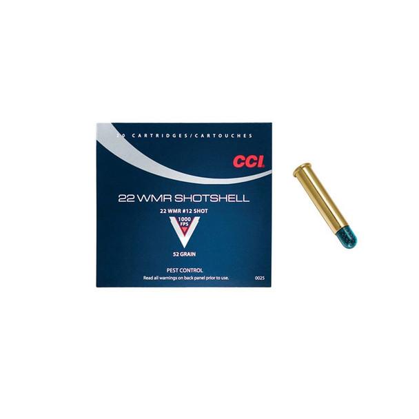CCI Speer 22 WMR 52 Grain Shotshell Ammo, 20 Round Box (25)