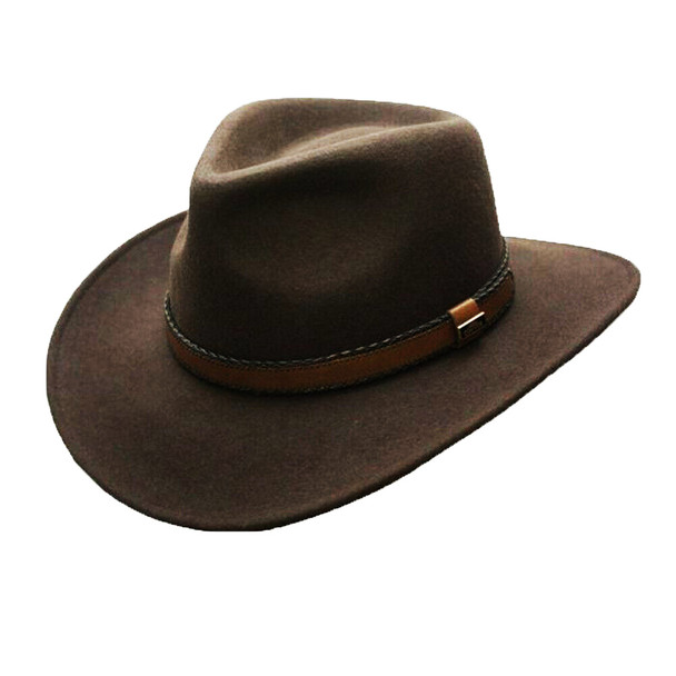 CONNER HATS Outback Creek Crushable Wool Brown Hat (C1020-BRW)
