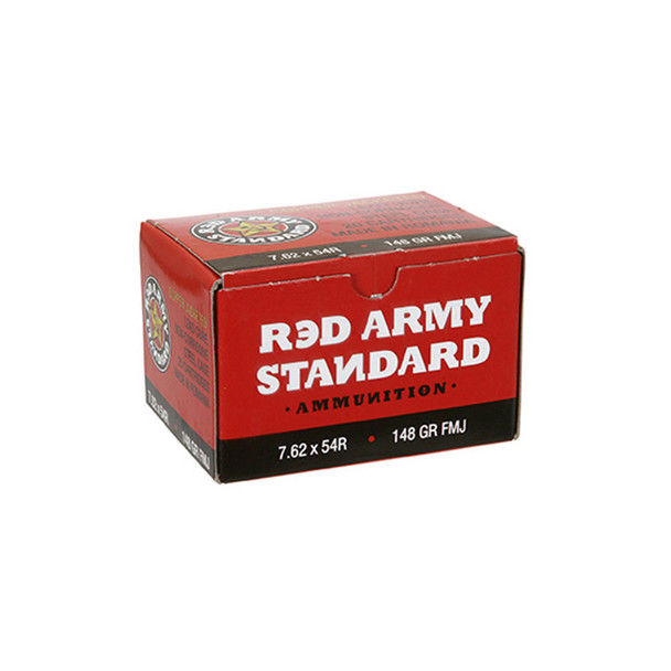CENTURY ARMS Red Army Standard 7.62x54R FMJ 148 Grain Ammo, 20 Rd Box (AM1999)