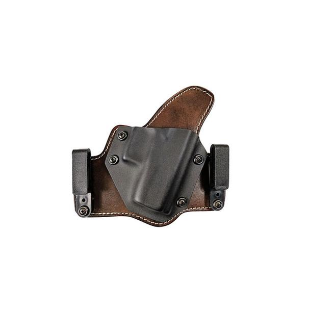 TAGUA GUN LEATHER Texas Partner S&W M&P Shield 45 IWB/OWB Black RH Holster (TX-PART-1015)