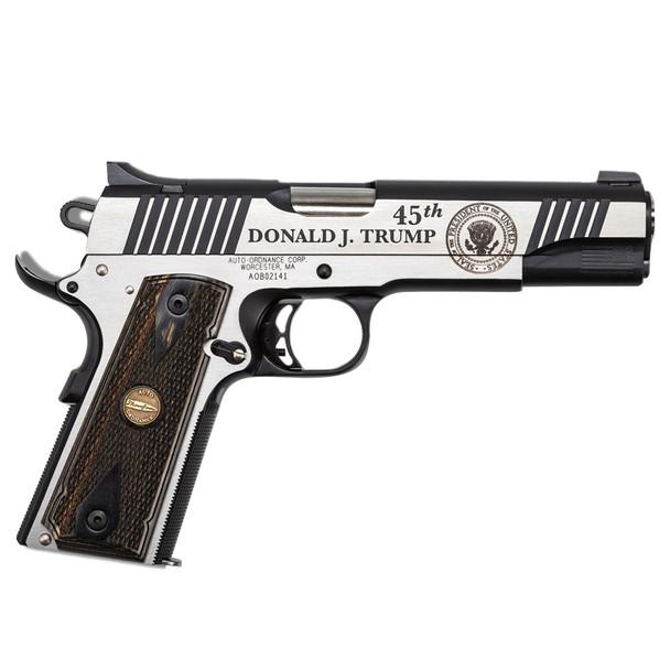 AUTO ORDNANCE 1911 A1 45th President Trump 45ACP 5in 7rd Pistol (KZ1911TCAC1)