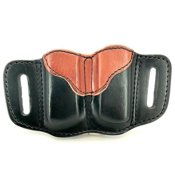 1791 GUNLEATHER MAG 2.1 Double Mag Single Stack Black on Brown Holster (MAG-2.1-BLB-A)