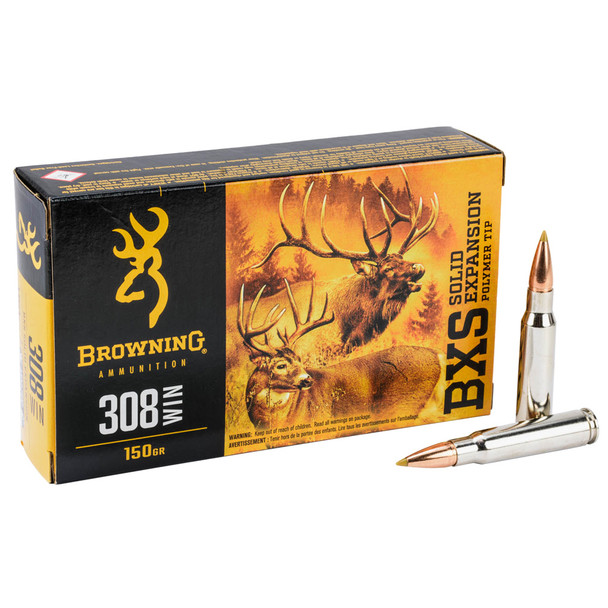 BROWNING BXS 308 Win 150Gr Terminal Tip Rifle Ammo (B192403081)