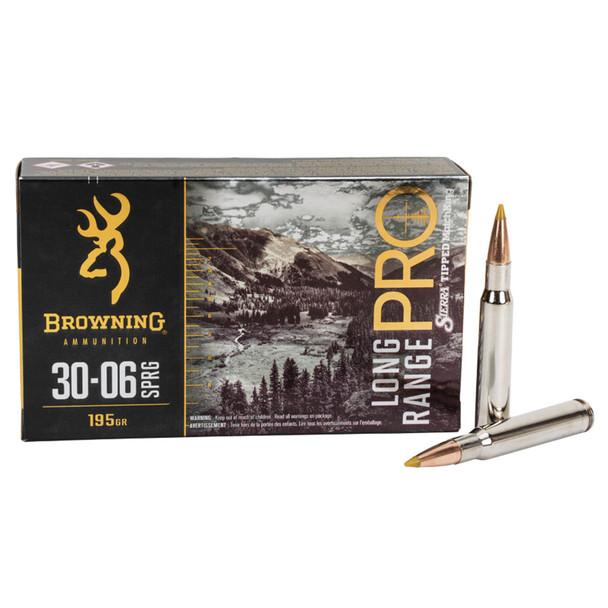 BROWNING LRP 30-06 Springfield 195Gr Sierra MatchKing BTPT Rifle Ammo (B192530061)