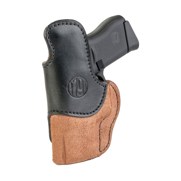 1791 GUNLEATHER RCH-4 Rigid Concealment IWB RH Size 4 Brown on Black Holster (RCH-4-BLB-R)