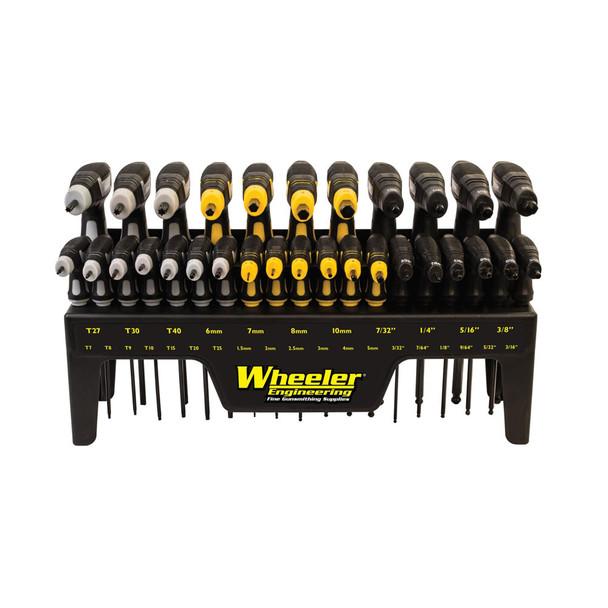 WHEELER 30 Piece SAE/Metric Hex and Torx P-Handle Set (1081957)