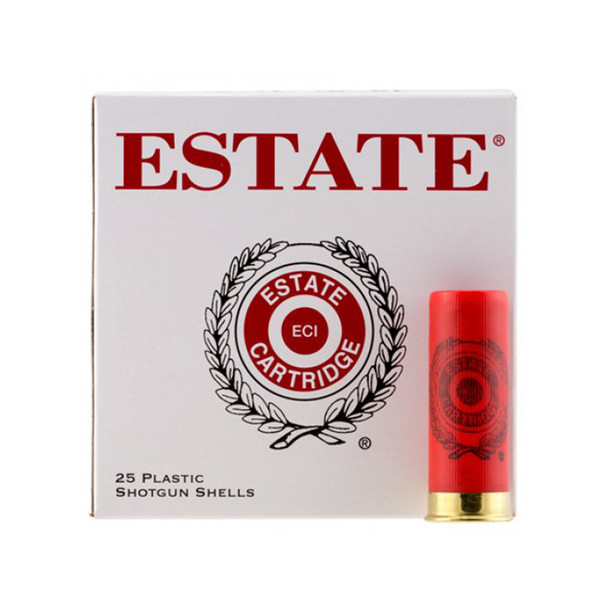 ESTATE Game & Target 2.75in 7.5 Shot 1-1/8oz 12 Gauge Ammo, 25 Round Box (GTL12TN75)